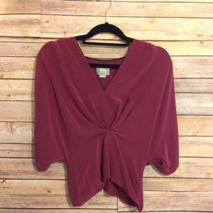 Maeve Anthropologie size 2 100% silk blouse